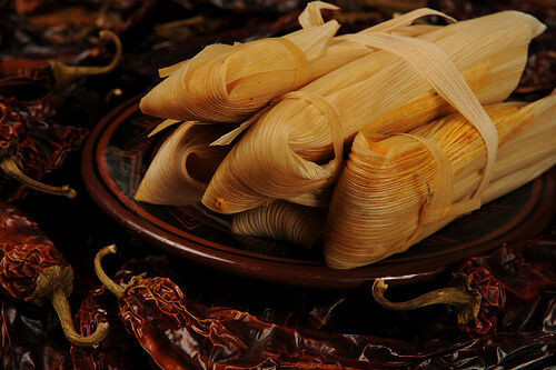 Sweet Potato Tamales with Pecans