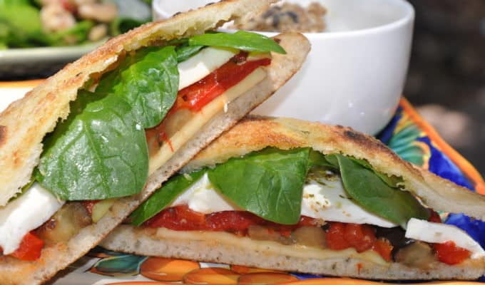 Grilled Vegetable and Cheese Sandwich