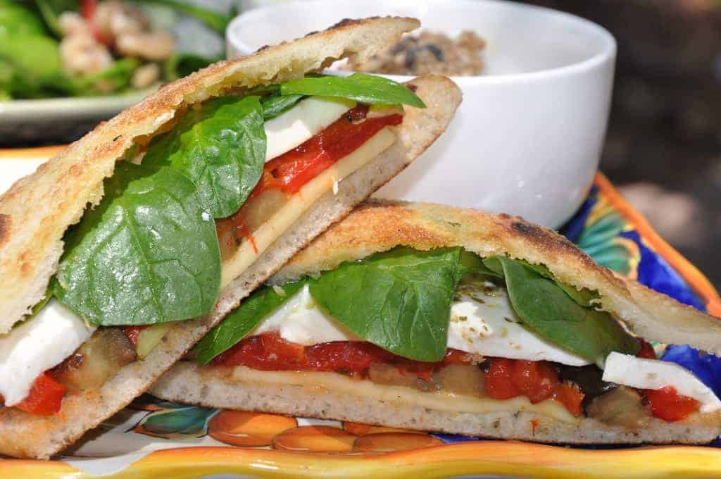 Grilled Vegetable & Cheese Sandwich