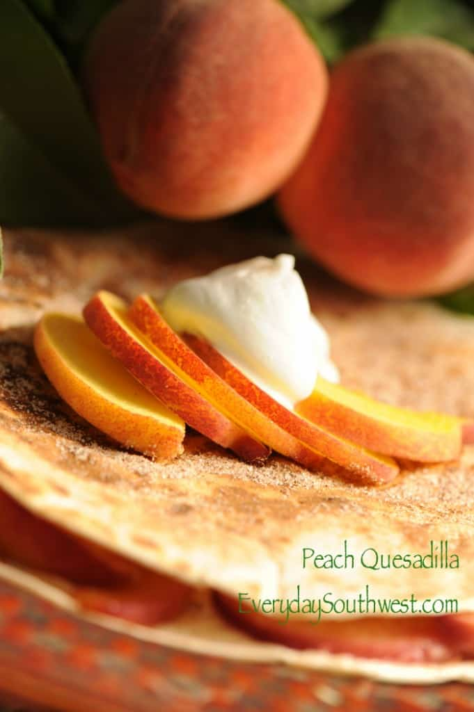 Peach Quesadilla Dessert Recipe