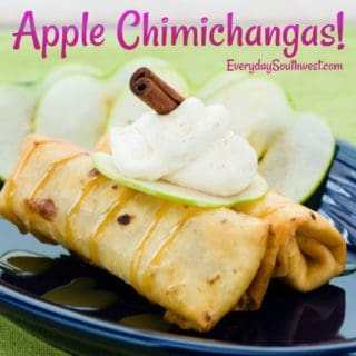 Apple Chimichangas Caramel Whipped Cream
