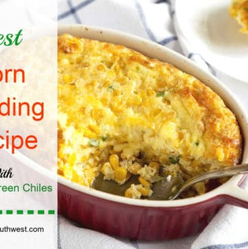Corn Pudding with Green Chiles Casserole
