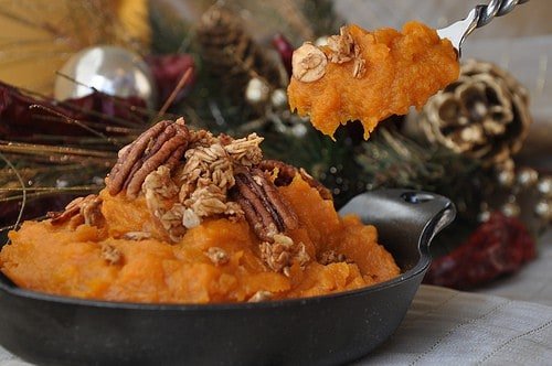 Mashed Sweet Potatoes with Bourbon, Molasses and Pecans Recipe ...