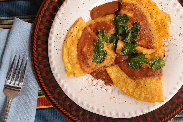 Enchiladas with Black Bean Sauce
