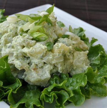 Healthy Potato Salad with Greek Yogurt and Green Chile Dressing