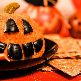 Jack-o-Lantern Cheeseball Recipe with Southwest Flavors – Eat, Drink and Be Scary