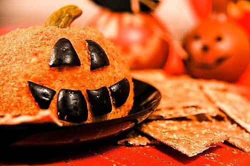 Jack-O-Lantern Cheeseball Recipe