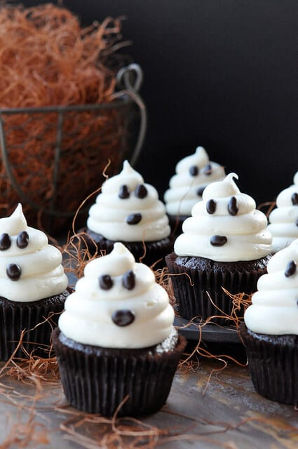 Halloween Ghost Cupcakes on Carrot Cake Recipe