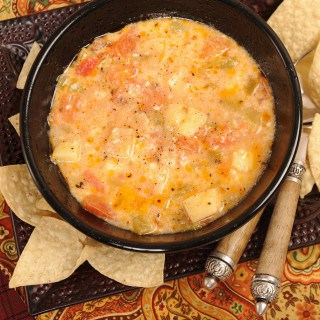 Rustic Veggie Soup with Cheese Cubes, or Carol's Caldo con Queso