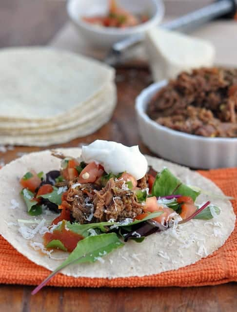 fast and easy slow cooker machaca taco recipe