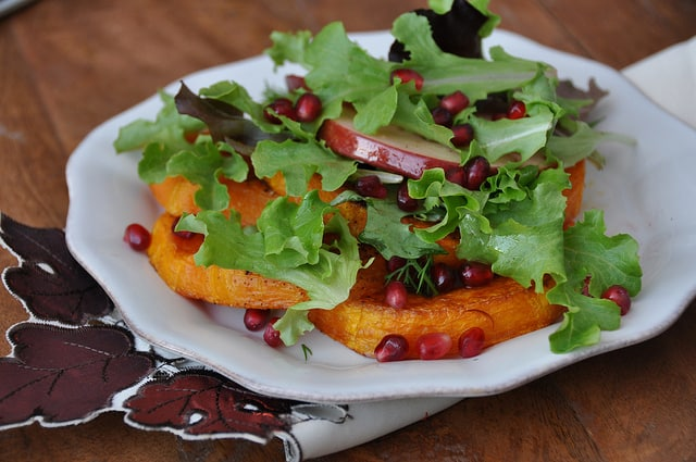 assemble the Roasted Butternut Squash Salad with Cranberry Vinaigrette Recipe