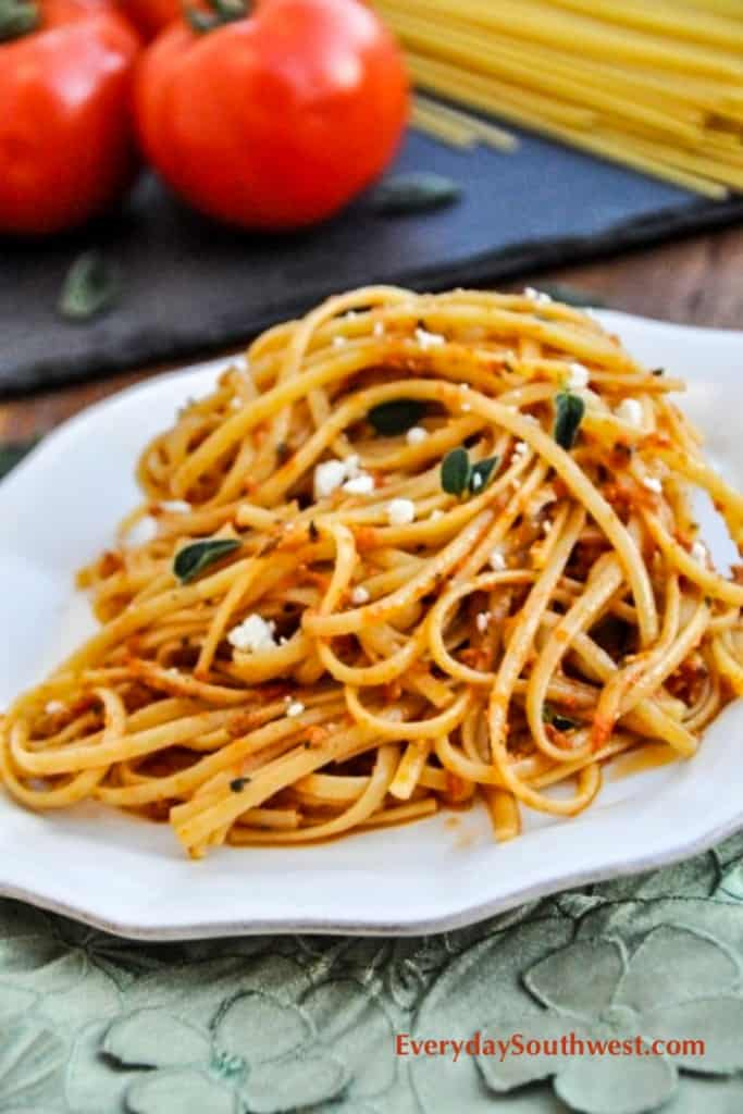 Sun Dried Tomato Pesto Pasta-1