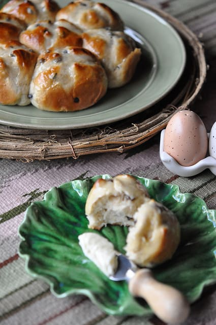 image of Hot Cross Buns Recipe with Orange Marmalade Butter