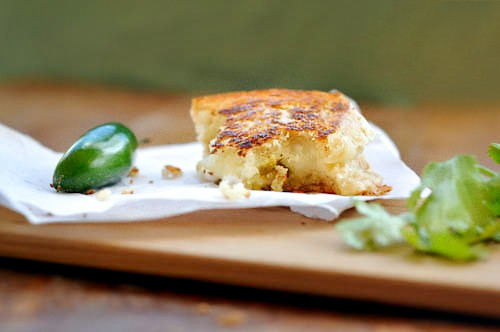 image Grilled Cheese del Mar with crumbs
