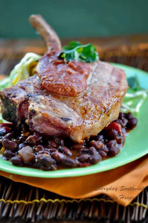 Grilled Pork Chop with Mayan Spiced  Mango Marinade