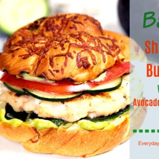 Shrimp Burger Recipe with Avocado Jalapeno Aioli