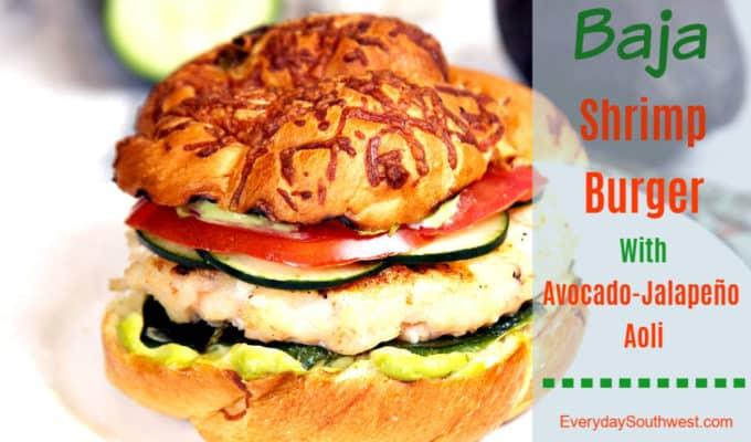 Shrimp Burger Recipe with Avocado Aioli