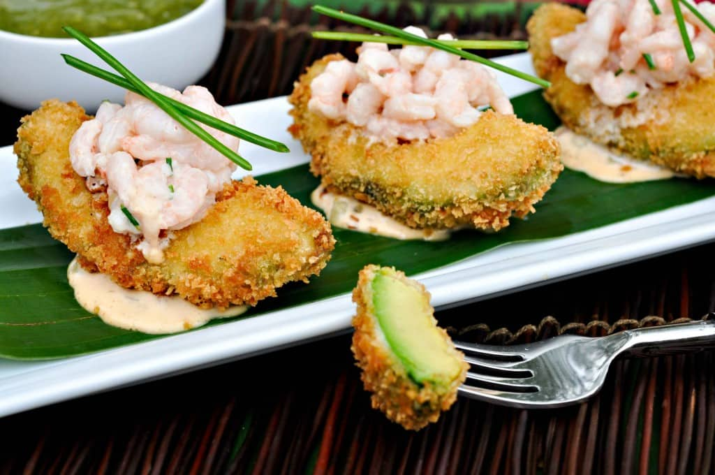 Fried Avocado Recipe Chipotle Shrimp Salad