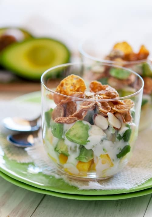 Mango Avocado Breakfast Parfait