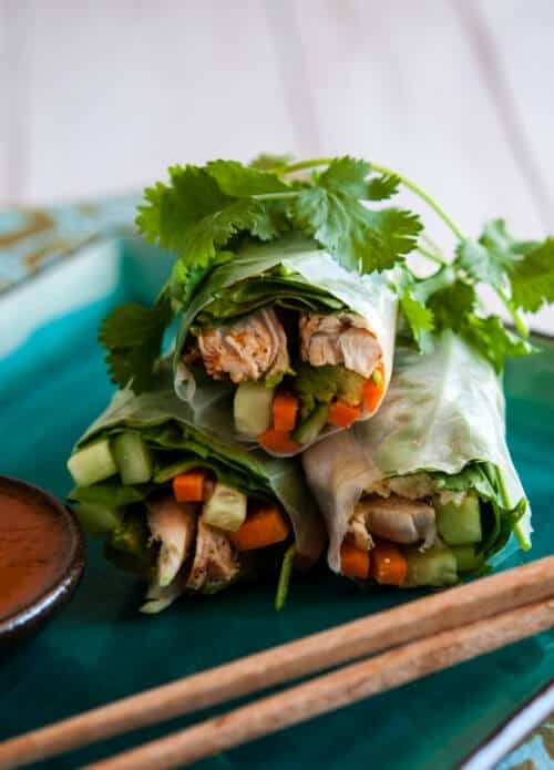 image Grilled Chicken Summer Rolls Recipe