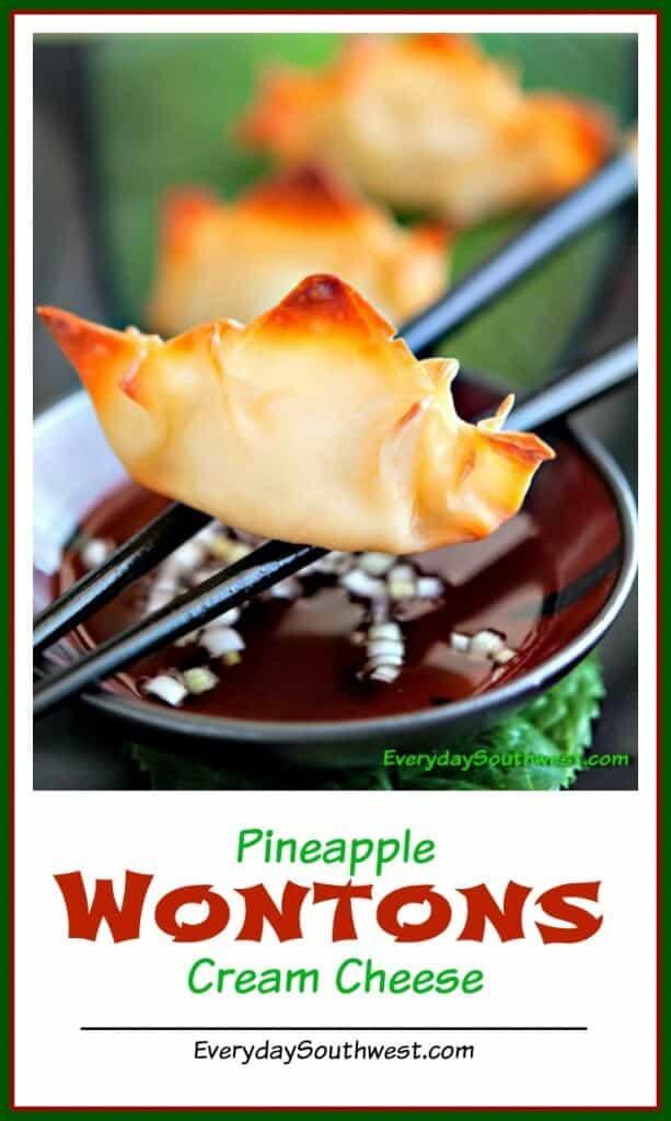 Baked Pineapple Cream Cheese Wontons