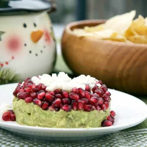 Guacamole with Pomegranate Seeds