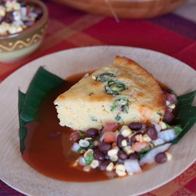 image Mayan Calendar Cornbread recipe with black bean salsa