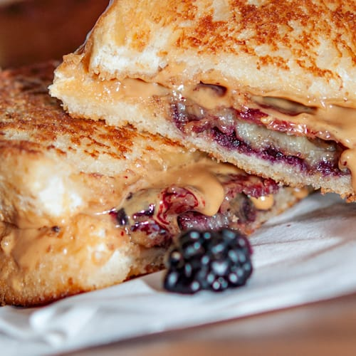 The Elvis Peanut Butter And Fried Banana Sandwich With Bacon Recipe Everyday Southwest
