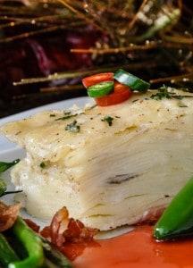 image green chile potato gratin recipe