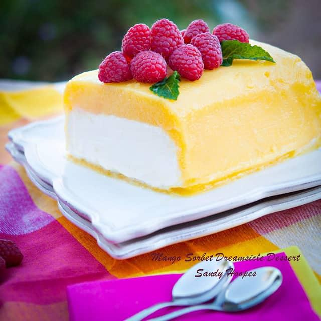 image mango sorbet dreamsicle dessert