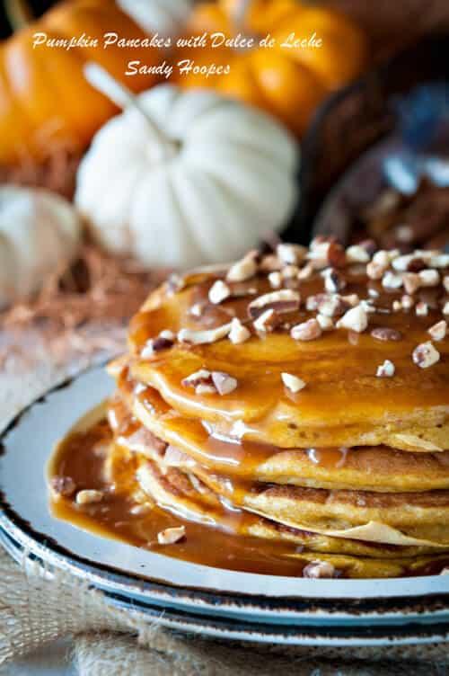 image pumpkin pancakes dulce de leche