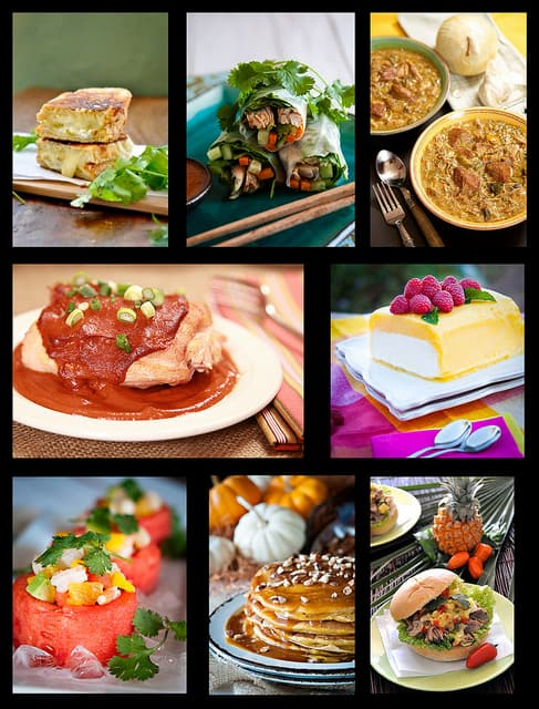top ten recipe collage