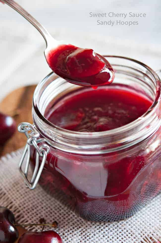 image Sweet Cherry Sauce Recipe