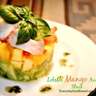 Lobster Avocado Mango Salad Stack