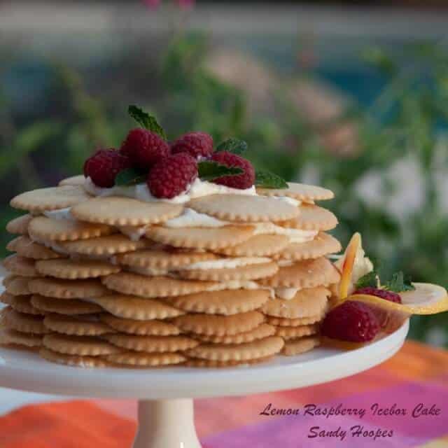 Lemon Raspberry Icebox Cake Recipe