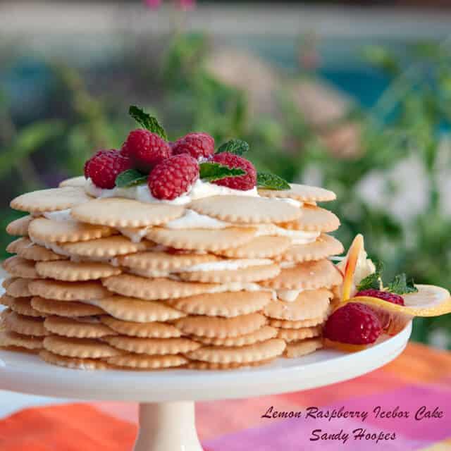 Lemon Raspberry Icebox cake