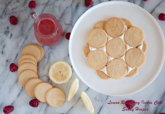 image How to make lemon raspberry cake