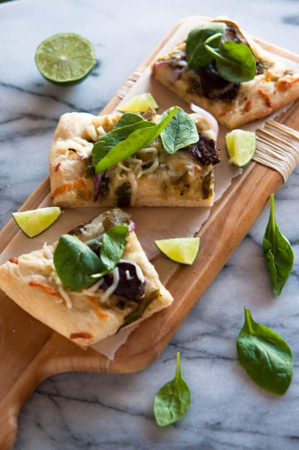 carne asada pizza recipe image