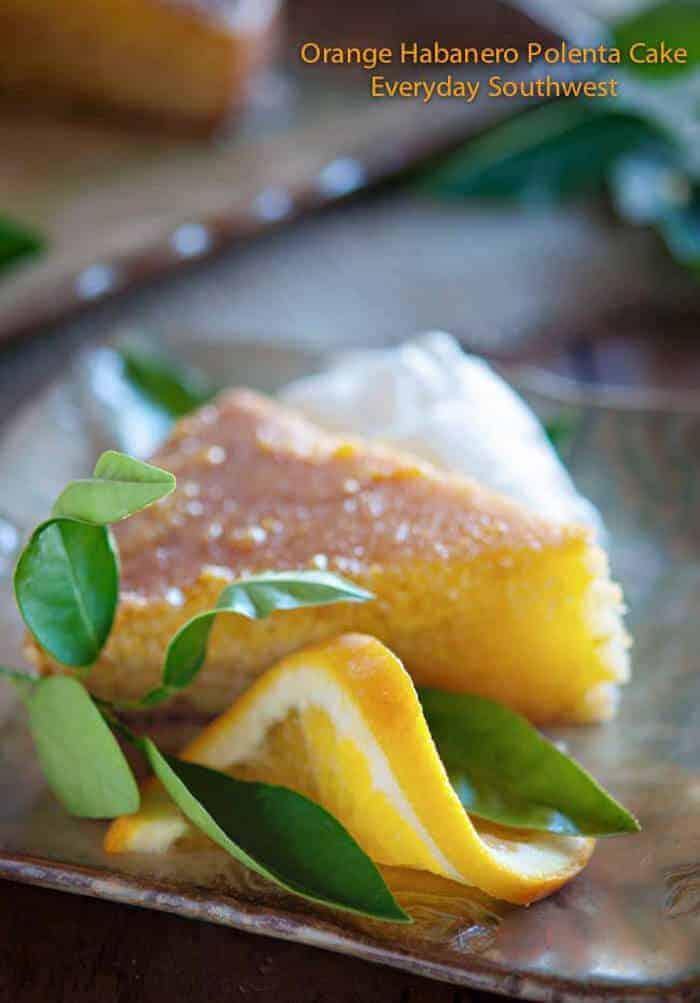 Orange Habanero Polenta Cake