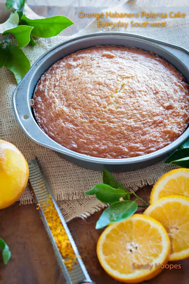 Orange Habanero Polenta Cake with Orange Zest