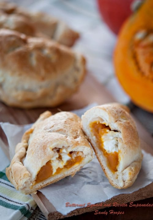 Butternut Squash Ricotta Empanadas or Calzones Plus Pasta Recipe Round-Up