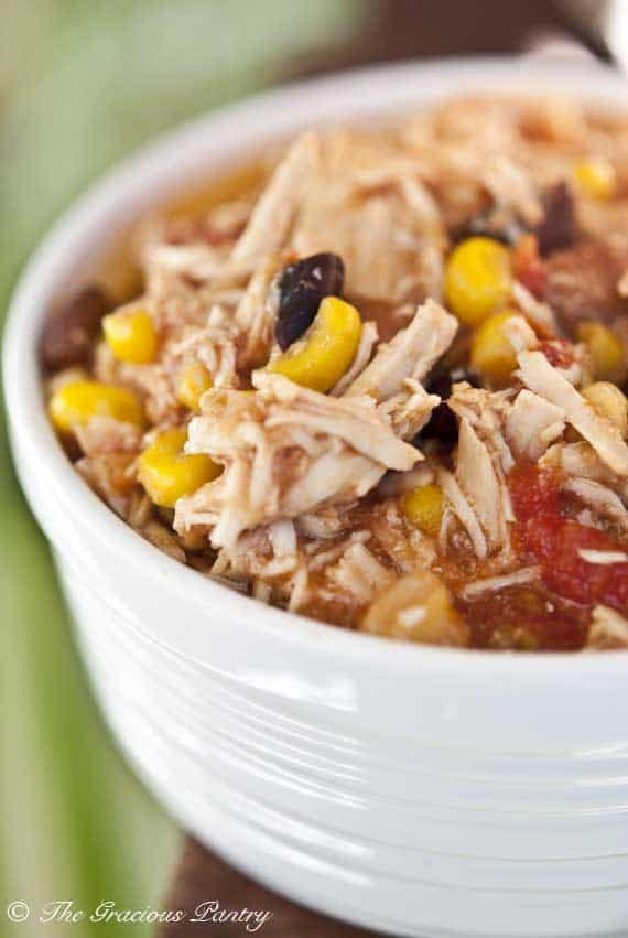 Southwest Chicken and Two Bean Slow Cooker, Clean Eating Recipe