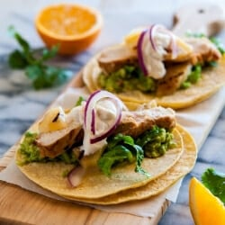 Cancun Grilled Chicken Tacos Recipe with Citrus Chile Marinade