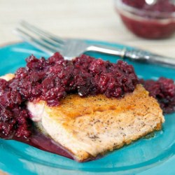 Salmon Recipe with Blackberry Jalapeno Chutney