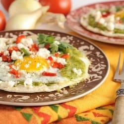 Charred Zucchini Salsa Verde for Huevos Rancheros Recipe
