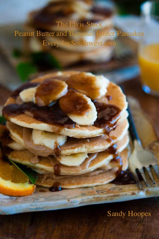 image Elvis Peanut Butter and Bananas Foster Pancakes