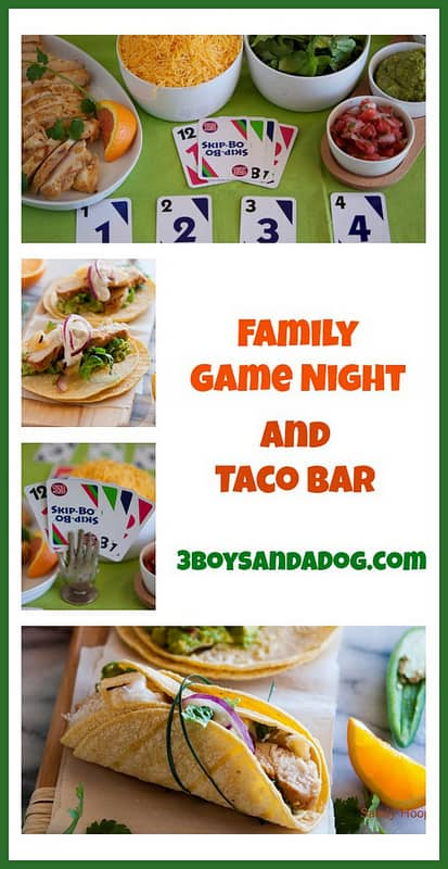 Taco bar and family game night everyday southwest for Food bar game