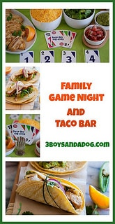 Family Game Night Taco Bar
