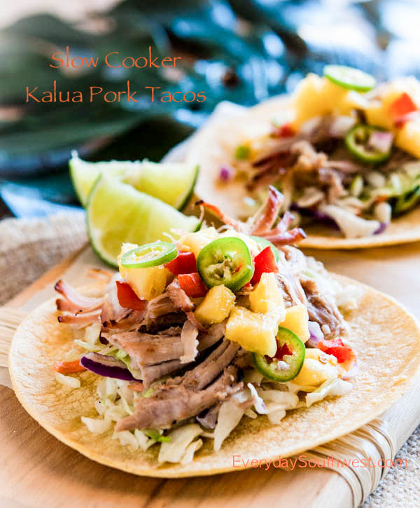 Hawaiian Kalua Pork Tacos —A Slow Cooker Recipe!!
