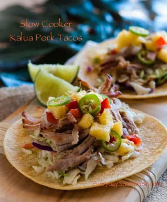 Slow Cooker Hawaiian Kalua Pork Tacos